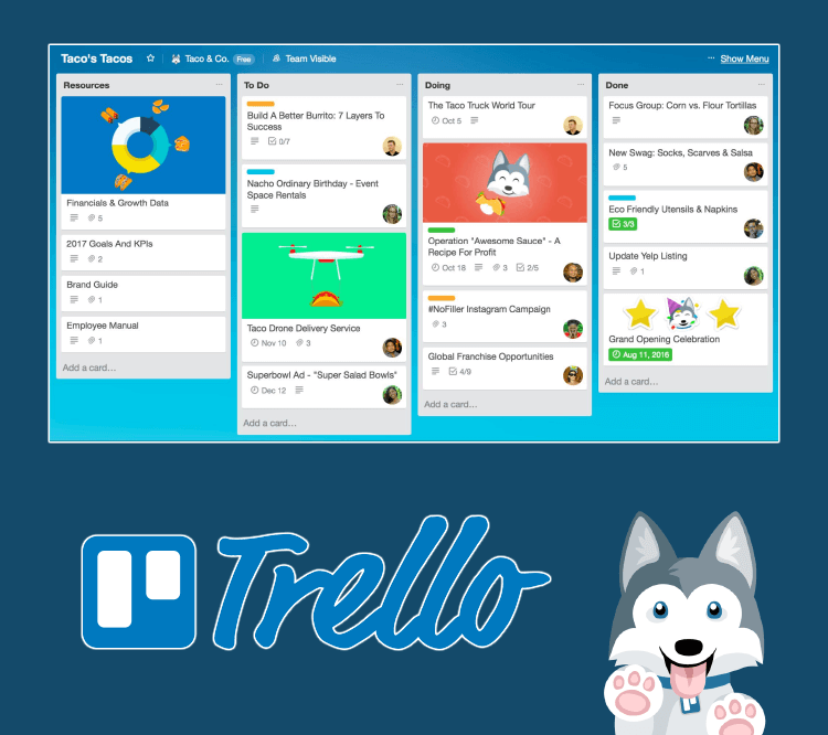 marketing management with Trello